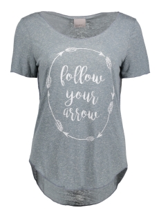 Vero Moda T-shirt VMLUA SS TOP COLOR 10165465 Flint Stone