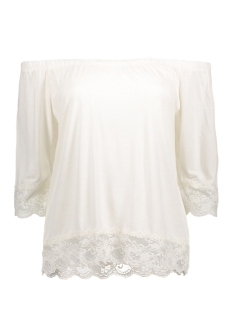 Noisy may T-shirt NMASTA 2/4 LACE MIDI TOP 2 10172606 Snow White