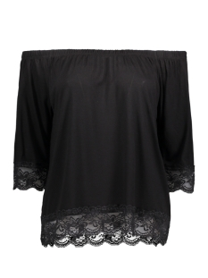Noisy may T-shirt NMASTA 2/4 LACE MIDI TOP 2 10172606 Black
