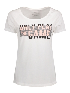 Only Play Sport shirt onpDUNNA REGULAR SS TEE BOX 15125200 White