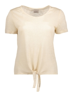 VMREZA S/S KNOT TOP A NOOS 10171546 Oatmeal