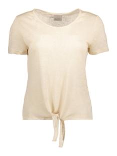 Vero Moda T-shirt VMREZA S/S KNOT TOP A NOOS 10171546 Oatmeal