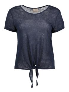 Vero Moda T-shirt VMREZA S/S KNOT TOP A NOOS 10171546 Navy Blazer