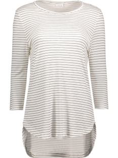 Jacqueline de Yong T-shirt JDYSUKIE 3/4 STRIPE LONG TOP JRS 15131709 Cloud Dancer/Black