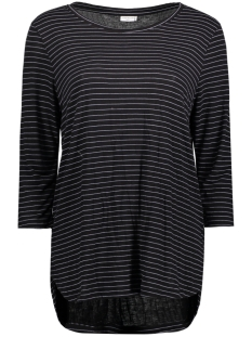 Jacqueline de Yong T-shirt JDYSUKIE 3/4 STRIPE LONG TOP JRS 15131709 Black/Cloud Dancer