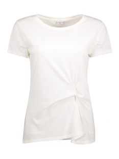Jacqueline de Yong T-shirt JDYRONDA S/S KNOT TOP JRS 15129410 Cloud Dancer