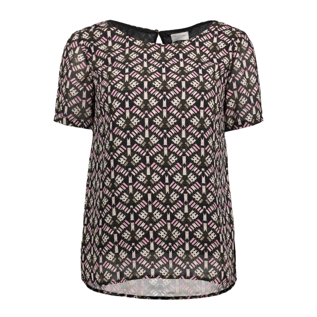 vimonar s/s top 14043771 vila blouse black