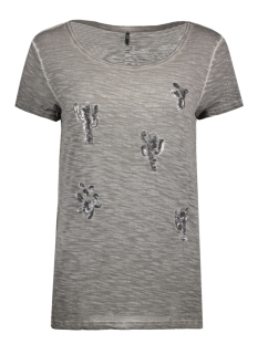 Only T-shirt onlVIGGO S/S BANG/CACTUS TOP BOX 15136878 Smoked Pearl