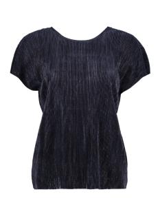 Vero Moda T-shirt VMMIRANDA SS WIDE PLEAT TOP JRS BOO 10176518 Navy Blazer