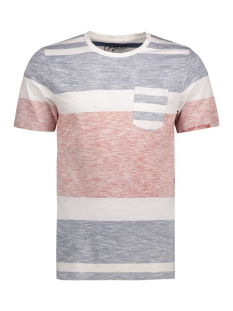 Jack & Jones T-shirt JORBLOCK STRIPE TEE SS CREW NECK 12122109 Cloud Dancer/Fit B