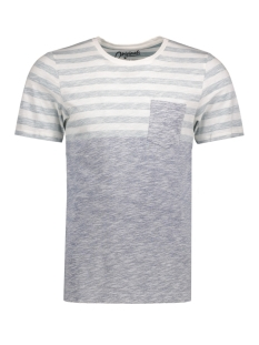 Jack & Jones T-shirt JORBLOCK STRIPE TEE SS CREW NECK 12122109 Cloud Dancer/ Fit S