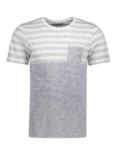 Jack & Jones T-shirt JORBLOCK STRIPE TEE SS CREW NECK 12122109 Cloud Dancer/ Fit S