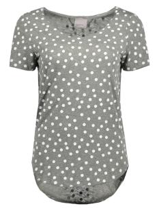 Vero Moda T-shirt VMLUA SS TOP COLOR 10165465 Medium Grey/Snow White