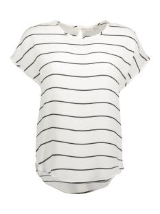 Jacqueline de Yong T-shirt JDYPERFECT S/S TOP WVN 15134510 Cloud Dancer/Black Stri