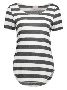 Vero Moda T-shirt VMLUA SS TOP COLOR 10165465 Snow White/Dark Grey