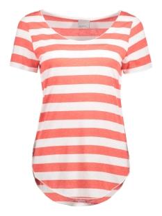 Vero Moda T-shirt VMLUA SS TOP COLOR 10165465 Snow White/Hibiscus