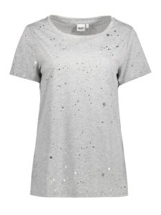 Object T-shirt OBJSPLASH S/S T-SHIRT A 23024975 Light Grey Melange