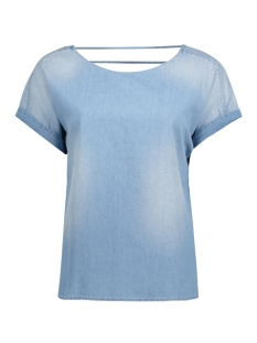 Object T-shirt OBJCANSAS NOA S/S TOP 91 23024624 Light Blue Denim