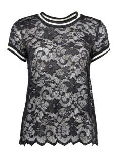 Jacqueline de Yong T-shirt JDYMAYA S/S LACE TOP JRS 15134544 Black
