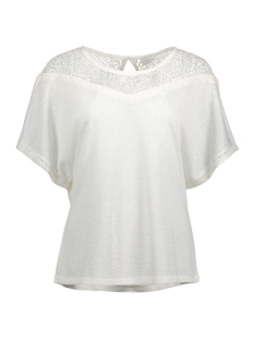 Vila T-shirt VIESTY S/S LACE T-SHIRT 14040848 Cloud Dancer