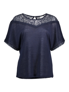 Vila T-shirt VIESTY S/S LACE T-SHIRT 14040848 Total Eclipse