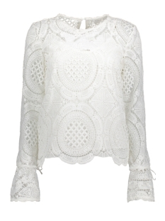 Vila Blouse VIENTRI L/S NEW LACE TOP 14043607 Cloud Dancer
