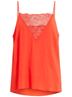 Vila Top VICINDIA STRAP TOP 14041462 Hot Coral
