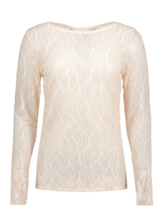 VISARAH L/S BOATNECK LACE TOP 14042907 Silver Peony