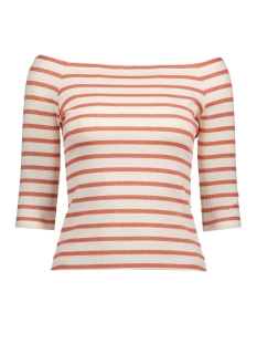 Vero Moda T-shirt VMYENGE OFFSHOULDER 3/4 TOP NFS 10182703 Snow White/Hibiscus