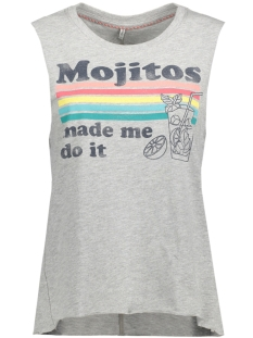 onlJANE S/L HAVANA/MOJITO TOP BOX E 15135717 Light Grey Melange/ Mojito