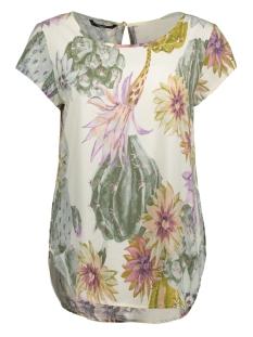 Only T-shirt onlNOVA S/S TOP AOP WVN 15137461 Whisper White/ Desert Cactus