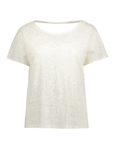 Object T-shirt OBJVALENCIA S/S TOP 91 23024535 Gardenia
