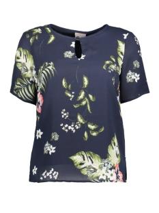 Vero Moda T-shirt VMBLOOM S/S TOP D2-4 10180079 Navy Blazer/ Bloom