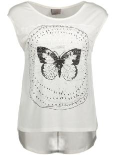 Vero Moda T-shirt VMFELINA TROPICAL TEE BOX D2-4 10180881 Snow White