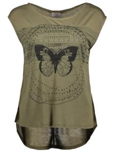 Vero Moda T-shirt VMFELINA TROPICAL TEE BOX D2-4 10180881 Ivy Green