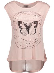Vero Moda T-shirt VMFELINA TROPICAL TEE BOX D2-4 10180881 Peach Whip