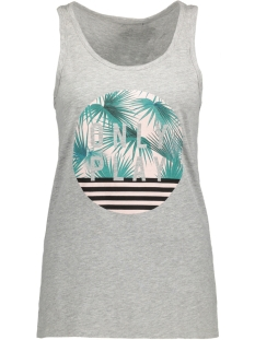 Only Play Sport top onpLEAF LOOSE TANK TOP 15132258 Light Grey Melange/ Black