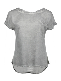 Object T-shirt OBJELLEN DALLAS S/S TOP 91 23024468 Frost Gray