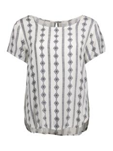Vila T-shirt VIETHNOLINE S/S TOP GV 14041319 Cloud Dancer/ Viethnolin
