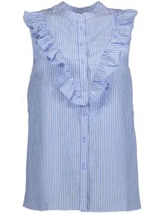 VIPAIRA S/L TOP 14043648 Cashmere Blue/ w.white