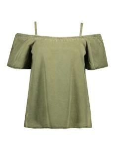 Vero Moda T-shirt VMZOE OFF SHOULDER TENCEL TOP GA 10176316 Ivy Green
