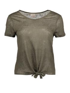 Vero Moda T-shirt VMREZA S/S KNOT TOP A NOOS 10171546 Ivy Green