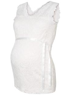 Mama-Licious Positie shirt MLMIVANA WOVEN TANK TOP 20007381 Snow White