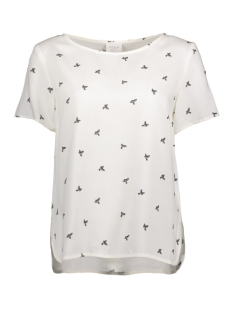 Vila T-shirt VIDOVER S/S TOP 14044097 Cloud dancer/ Print comb