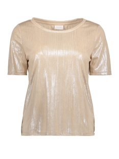 Vila T-shirt VIRITTES S/S  TOP 14043127 Frosted Almond