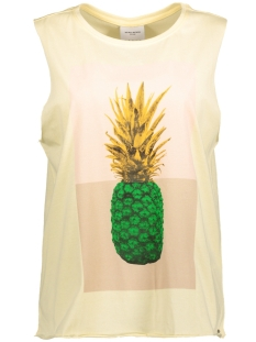 Vero Moda Top VMJULIE HAVANA TANK TOP BOX DNM JRS 10174364 Wax Yellow/Big Pineap