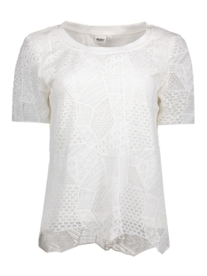 Object T-shirt OBJLIZZY S/S TOP 23024260 Gardenia