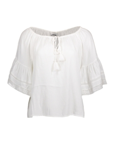 Noisy may T-shirt NMFIONA 3/4 SLEEVE TOP 3 10177044 Bright White