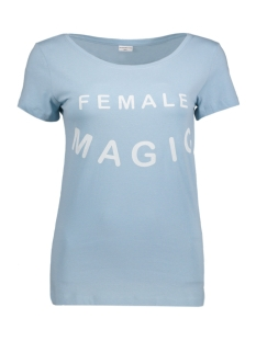 Jacqueline de Yong T-shirt JDYCHICAGO S/S PRINT TOP JRS 04 15131796 Forget-Me-Not/ Female Magic