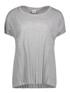 Object T-shirt OBJMIYA S/S TOP 91 23024526 Light Grey Melange